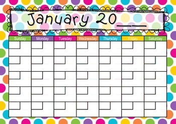 Circles Calendar: Teaching days, weeks, months and years.