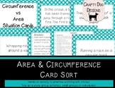 Circles: Circumference vs Area Situation Card Sort