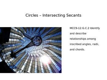 Circles - Intersecting Secants