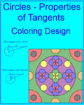 Circles - Properties of Tangents Coloring Activity (2 colo
