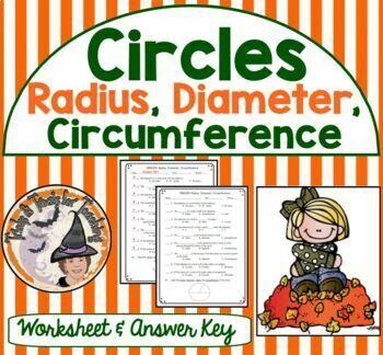 Circles Radius Diameter Circumference Practice Worksheet