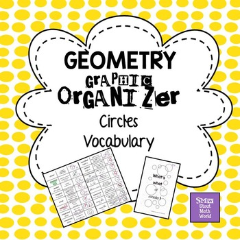 Circles Vocabulary Graphic Organizer and Manipulatives