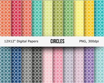 Circles digital paper pattern paper background