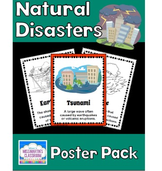 Natural Disasters Poster Pack