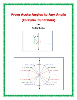 Circular Functions - From Acute Angles to Any Angle (B-2)