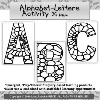 Circular Pattern Alphabet Activity Playdough Coloring Loos