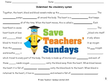 Circulatory system Lesson plan and Worksheets