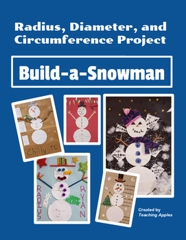 Circumference Radius Diameter Circle Winter Snowman Projec