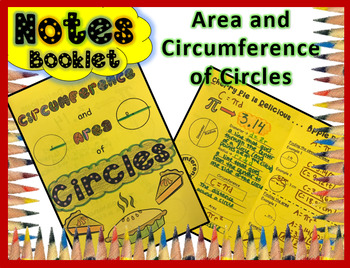 Circumference and Area of Circles Doodle Notes