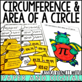 Circumference and Area of a Circle Activity Pack