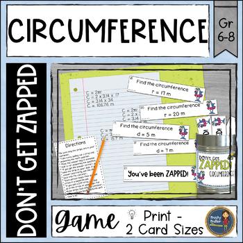 Circumference of Circles ZAP Math Game Pi Day Activity