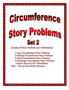 Circumference of a Circle Story Problems Set 2