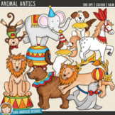 "Circus Animal Clip Art: ""Animal Antics"""