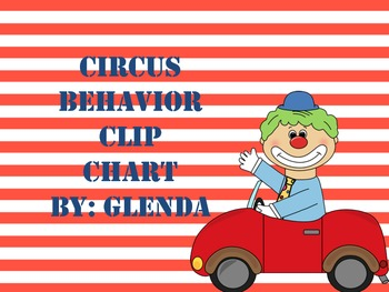 Circus Behavior Clip Chart