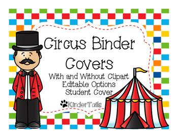 Circus Binder Covers {Editable}