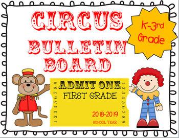 Circus Bulletin Board~ Back to School Kindergarten - 4th Grade