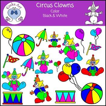 Circus Clowns Clip Art