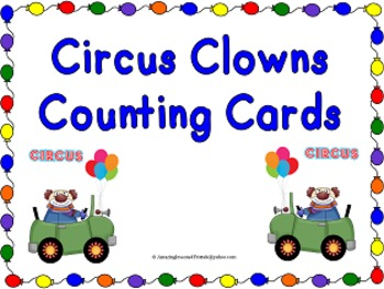 Circus Clowns Counting Cards (Commom Core)