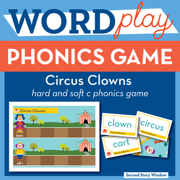 Circus Clowns hard and soft c Phonics Game