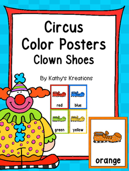 Circus Color Posters (Clown Shoes) & Cards