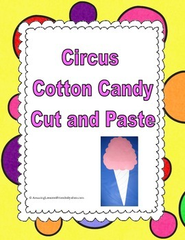 Circus Cotton Candy Cut and Paste
