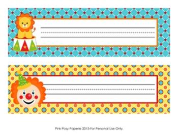 Circus Classroom Decor Desk Name Plates