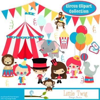 Circus Digital Clipart, clip art collection