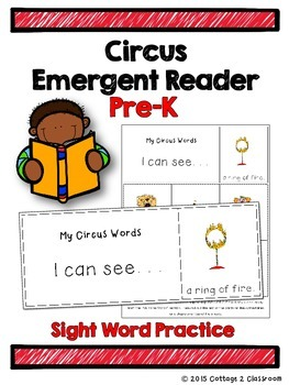 Circus Emergent Reader for PreKinders