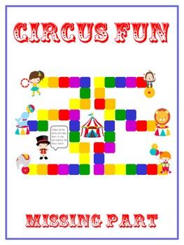 Circus Fun Fun Math Folder Game Find the Missing Part Adde