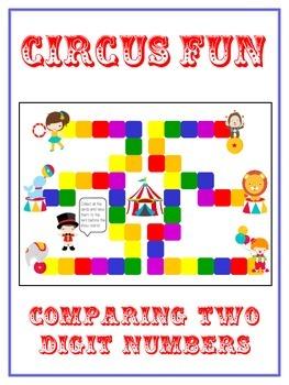 Circus Fun Math Folder Game - Common Core - Comparing 2 Di