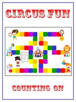 Circus Fun Math Folder Game - Common Core - Counting On Fr