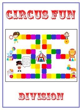 Circus Fun Math Folder Game - Common Core - Division - Div