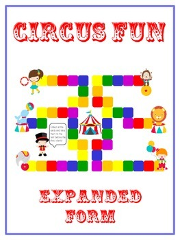 Circus Fun Math Folder Game - Common Core - Expanded Form