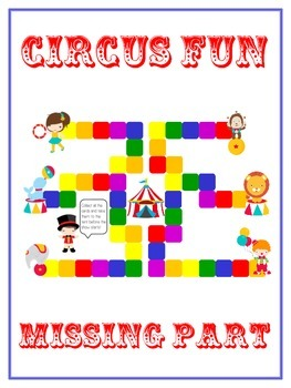 Circus Fun Math Folder Game - Common Core - Finding the Mi