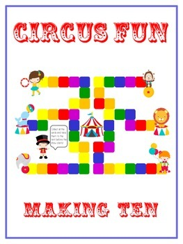 Circus Fun Math Folder Game - Common Core - Making Ten