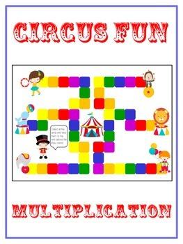 Circus Fun Math Folder Game - Common Core - Multiplication