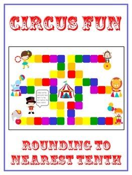 Circus Fun Math Folder Game - Common Core - Rounding to Ne