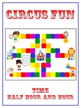 Circus Fun Math Folder Game - Common Core - Telling Time H