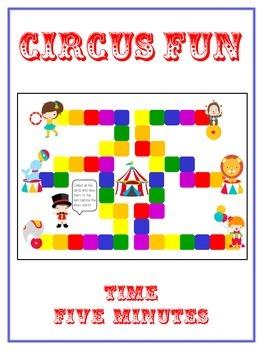 Circus Fun Math Folder Game - Common Core - Telling Time w