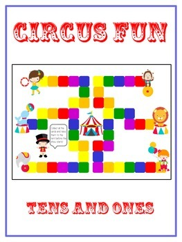 Circus Fun Math Folder Game - Common Core - Tens and Ones
