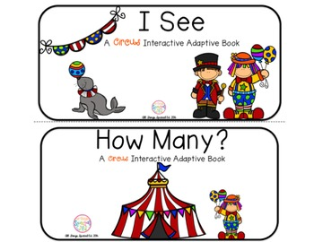"Circus Interactive Adaptive books - set of 2 (""I See and """