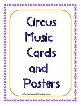 Circus Music Cards and Posters
