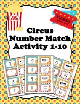Circus Number Match Activity