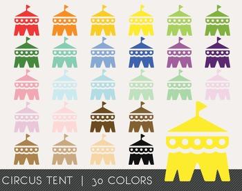 Circus Tent Digital Clipart, Circus Tent Graphics, Circus