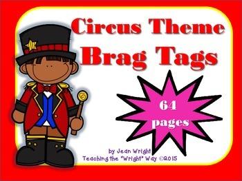 Circus Theme Brag Tags