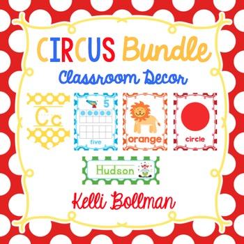 Circus Theme Classroom Decor BUNDLE