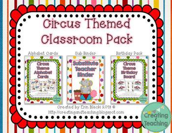 Circus Theme Classroom Pack
