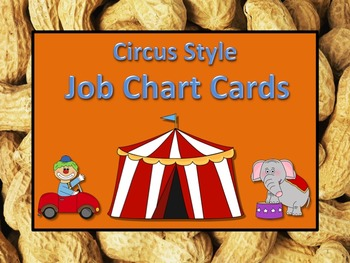 Circus Theme Job Chart Cards / Signs - Great for Classroom