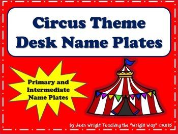 Circus Theme Name Plates