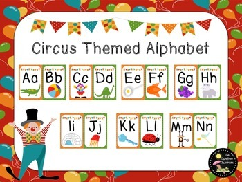 Circus Themed Alphabet Line